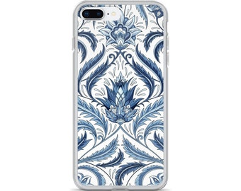 Blue and White iPhone Case - Pretty Floral Design - Available for Many Different iPhone's - iPhone 6 Plus/6s Plus - iPhone 7 Plus - iPhone X