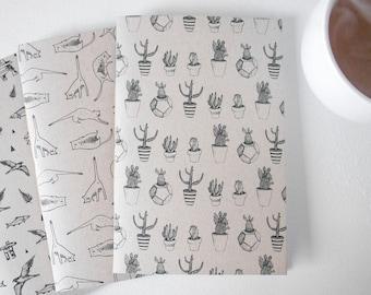 3 KRAFT notebooks to choose from/newspaper, notebook, notebooks, notebooks, stationery