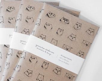 Carnet - Chats / journal, notebook, carnet de notes, cahier, papeterie