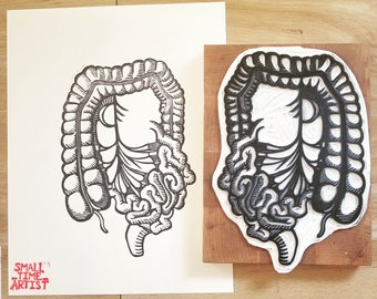 Anatomical Print #6: The Intestines