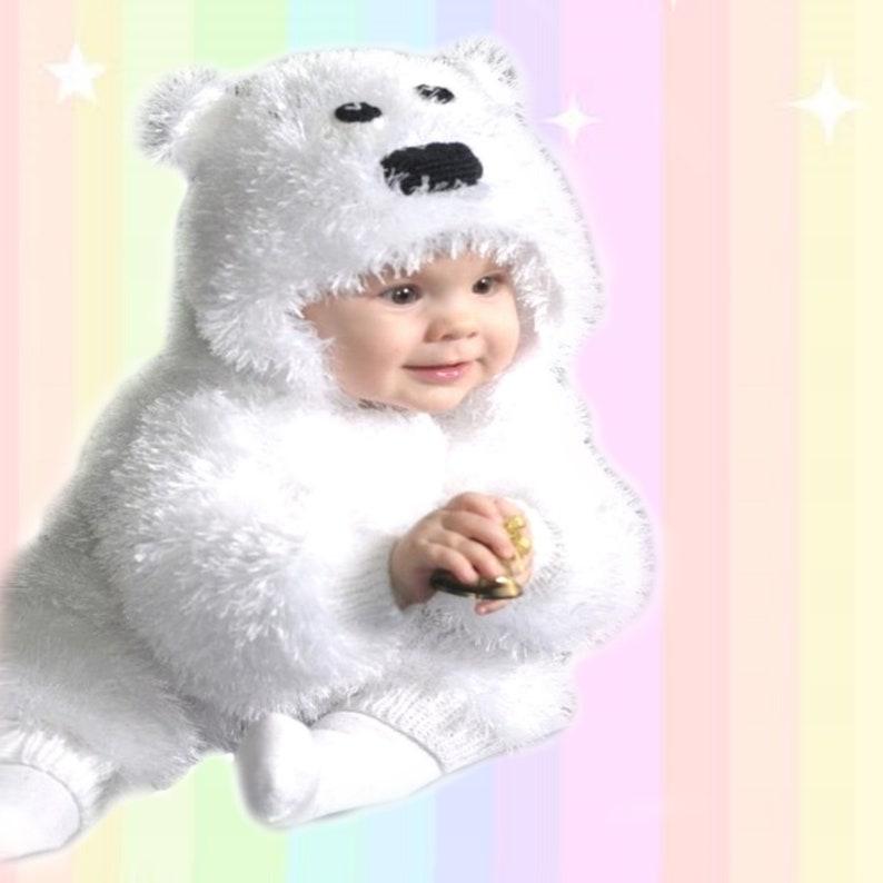 0d2f7c49e Baby bear overall Polar bear fursuit bodysuit Baby bear