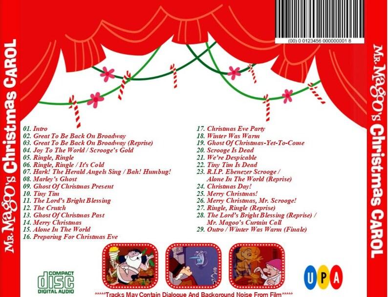 A Christmas Carol Soundtrack.Mr Magoo S Christmas Carol Expanded Soundtrack 1962 Cd