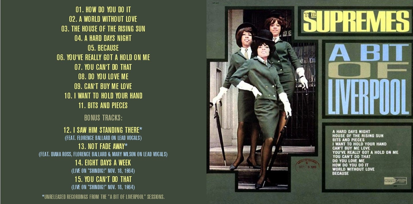 The Supremes - A Bit Of Liverpool (EXPANDED EDITION) 1964 CD