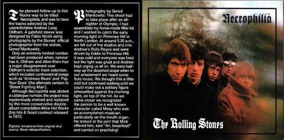The Rolling Stones - Necrophilia (Unreleased Album) (1972) CD