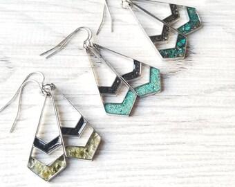 Chevron Alaska Dangle Earrings