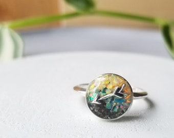Anchorage, Alaska Compass Ring ( Size 7 )