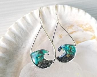 Alaska Sterling Silver Wave Earrings