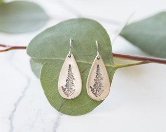 Fireweed Teardrop Earrings