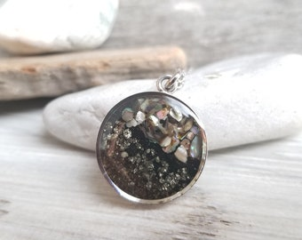 North Pole, Alaska Sand Necklace, Stainless Steel