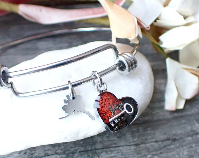 Featured listing image: Heart of Seward, Alaska Bracelet