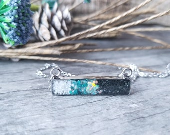 Matanuska Glacier, Alaska Stainless Steel Necklace