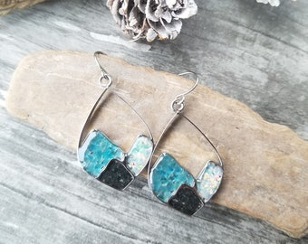 Matanuska Glacier, Alaska Mountain Range Earrings
