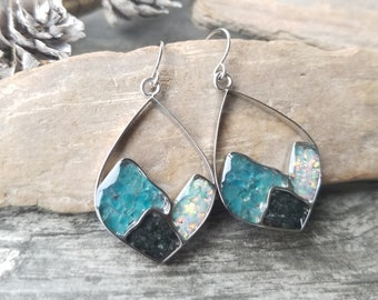 Girdwood, Alaska Mountain Range Earrings