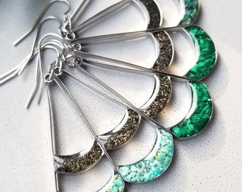 Alaska Sand Dangle Earrings