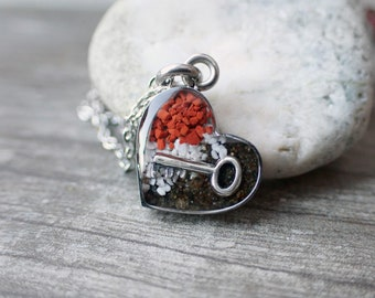 Heart of Skagway, Alaska Necklace