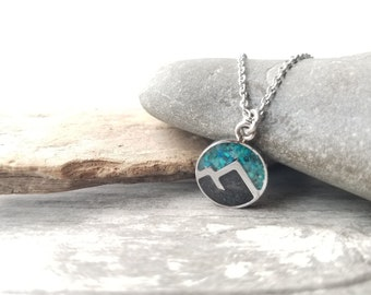 Whittier, Alaska - Small Stainless Steel Necklace