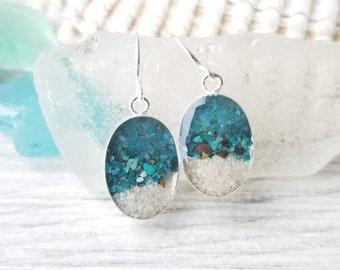 Maldives, Sterling Silver Earrings