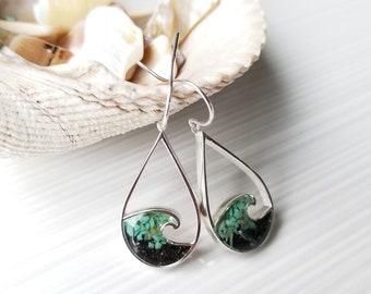 Ketchikan, Alaska Sterling Silver Wave Earrings