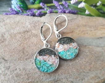 Matanuska Glacier Alaska, Dangle Earrings