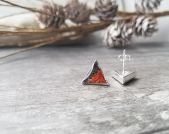 Kodiak, Alaska Peak Sterling Silver Stud Earrings