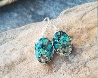 Talkeetna, Alaska Sterling Dangle Earrings