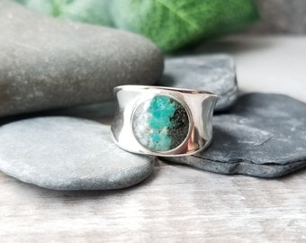 Sitka, Alaska Thick Sterling Silver Ring