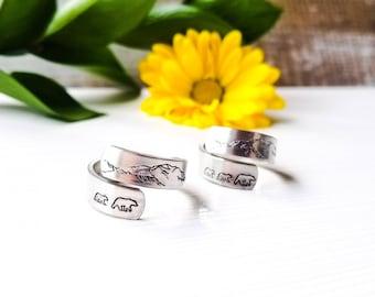 Mama Bear and Denali Mountain Ring, Adjustable