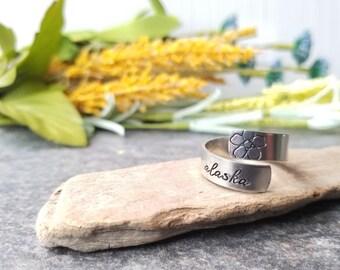 Forget Me Not & Alaska Ring, Adjustable