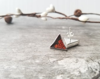 Nome, Alaska Mountain Stud Earring, Sterling Silver