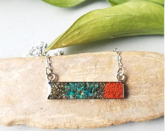 Sockeye Necklace, Alaska Sand or Silt Bar Necklace