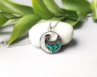 Alaska Sand Small Wave Necklace