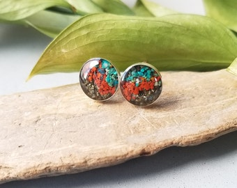 Sockeye Stud Earrings, Alaska Sand or Glacier Silt Stud Earring
