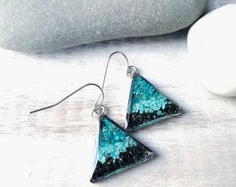 Kodiak, Alaska Stainless Steel Dangle Earrings