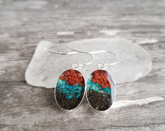 Exit Glacier, Seward, Alaska Sterling Silver Dangle Earrings