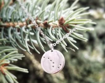 Big Dipper Stainless Steel Necklace, Ursa Major