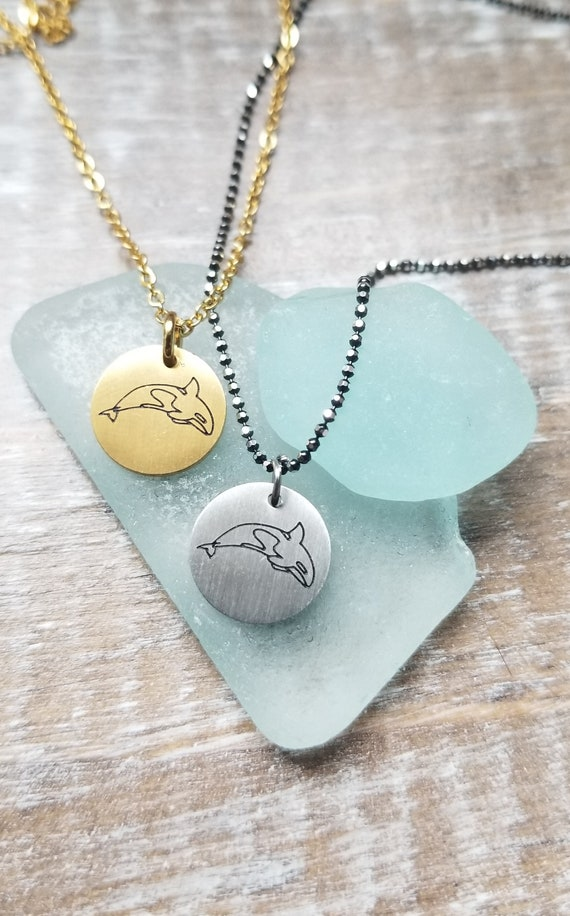 Gifts that Give: Orca Whale Charm Necklace