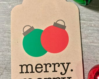 CHRISTMAS TAG - Merry Merry