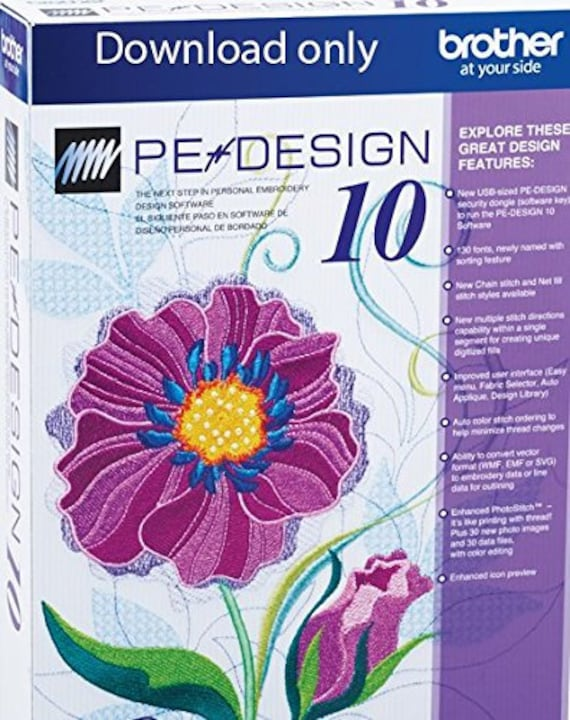 Brother PED Basic Embroidery Design Transfer Box /& Card