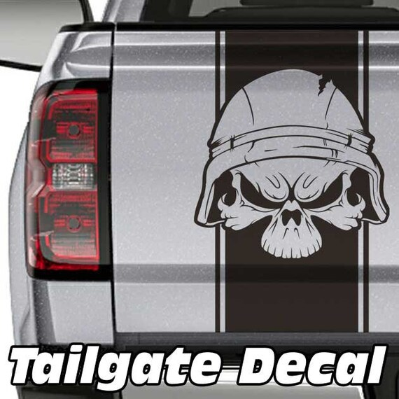 Military USMC Tribal Skull Decal Car Truck Jeep Wrangler Vinyl Sticker Emblem