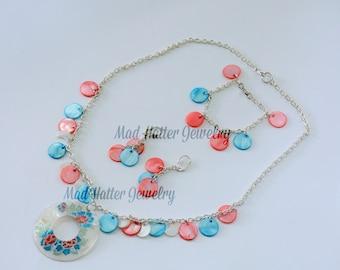 Flowery Shell Jewelry Set