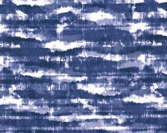 6b3de15cd0a Shibori Tie Dye Indigo Cotton Fabric / Keepsake Calico Cotton Fabric / By  the Yard / Yardage