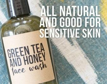 Organic Anti-Inflammatory Green Tea Honey Face Wash