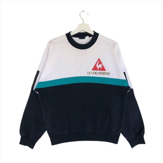 Vintage Rare Le Coq Sportif Sweatshirt Full Printe