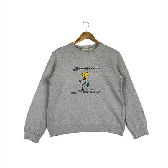 Rare!!Vintage Lucy Snoopy Peanuts Sweatshirt  Biglogo Character cartoon animations pullover jumper