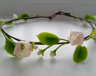 Wreath with flowers of Apple