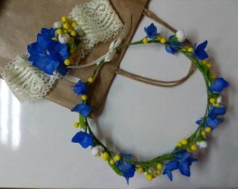 Wreath with hydrangea florets!