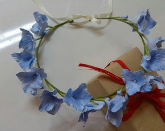 Wreaths with a hydrangea from polymeric clay!