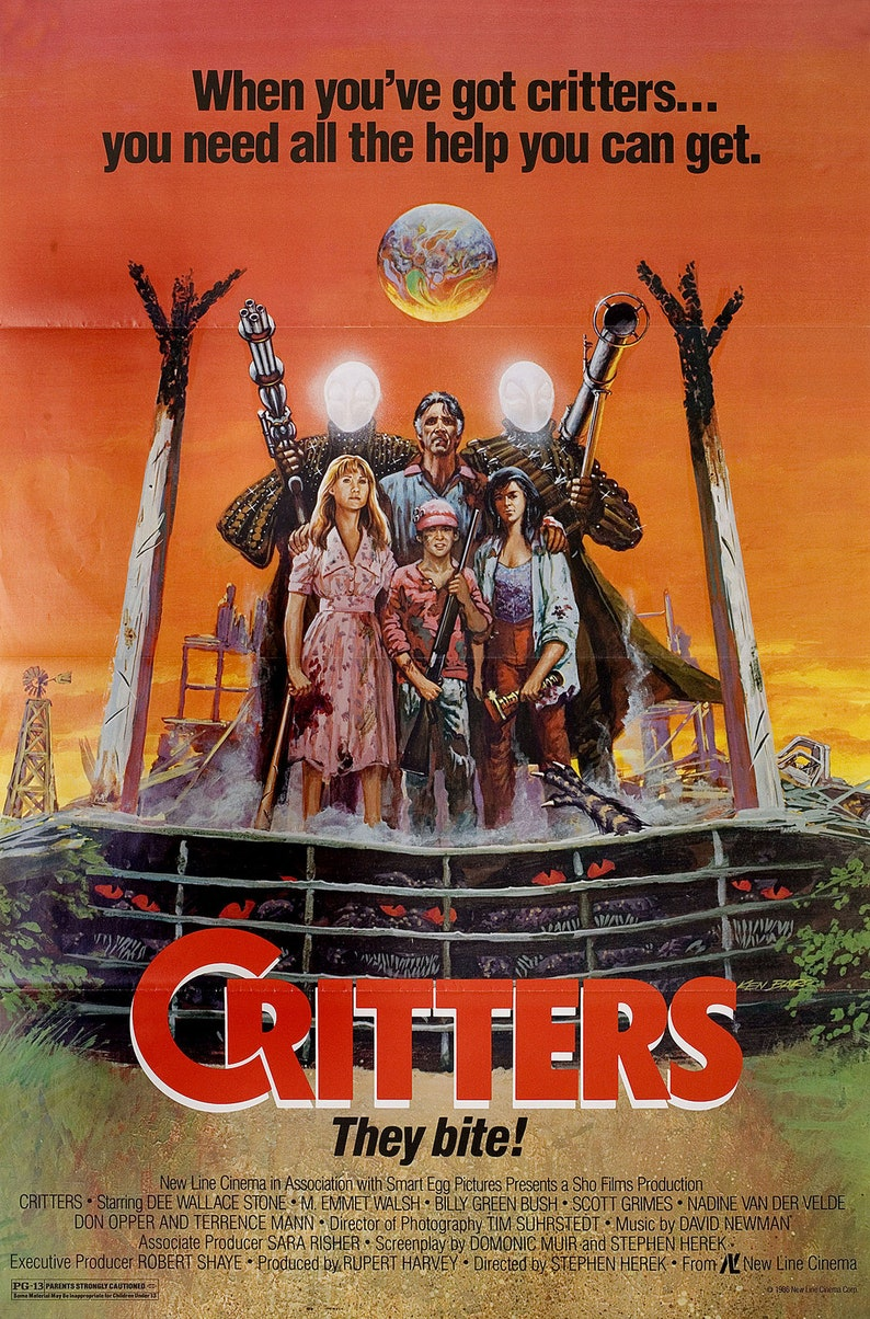 One Sheet Poster Critters 1986 Vintage U.S