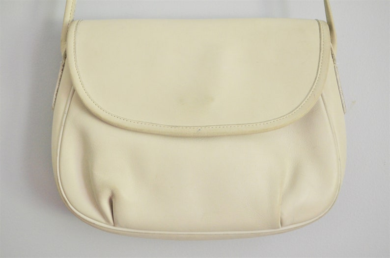 aa21cb51d7 ... clearance vintage coach off white leather cafe bag crossbody over the  etsy 30950 752ba