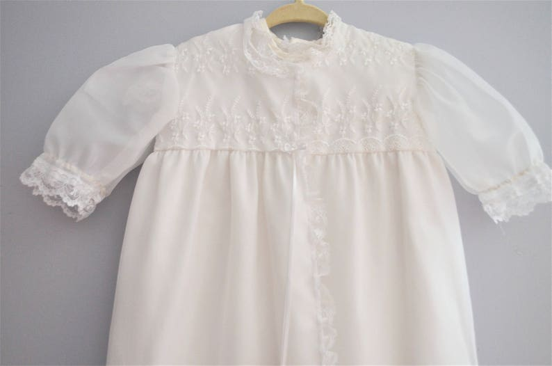 36ff3a27ad8143 Vintage Embroidered Baptismal Gown and Bonnet   Infant